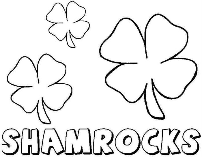 Easy St. Patrick's Day Coloring Pages For Children