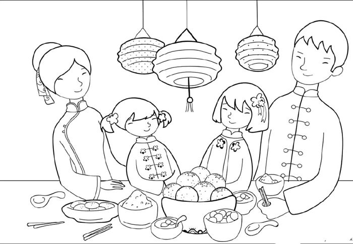Beautiful Chinese New Year Coloring Pictures