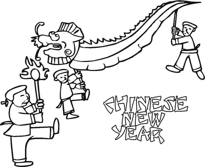 Best Chinese New Year Coloring Pictures