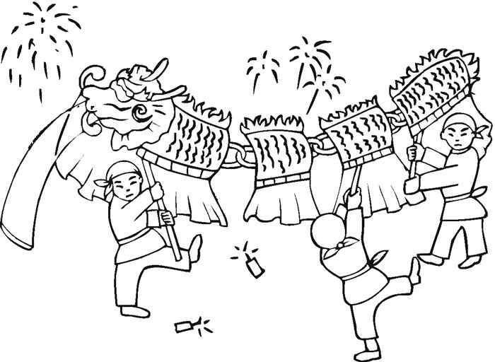 Free Chinese New Year Pictures To Color