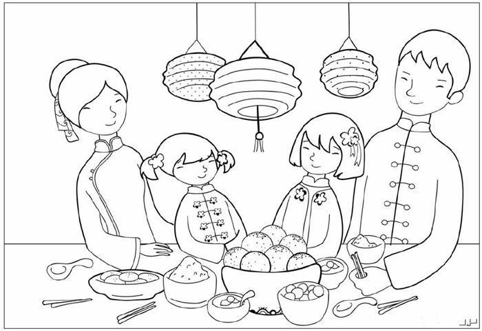 Free Printable Chinese New Year Pictures To Color