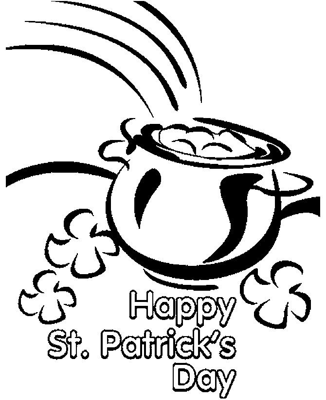 Free St. Patrick's Day Clip Art Black And White