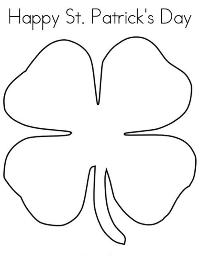 Beautiful St. Patrick's Day Clip Art To Print And Color