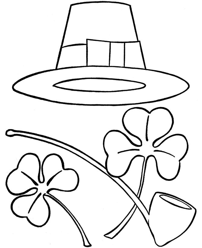Beautiful St. Patrick's Day Coloring Pages For Kids