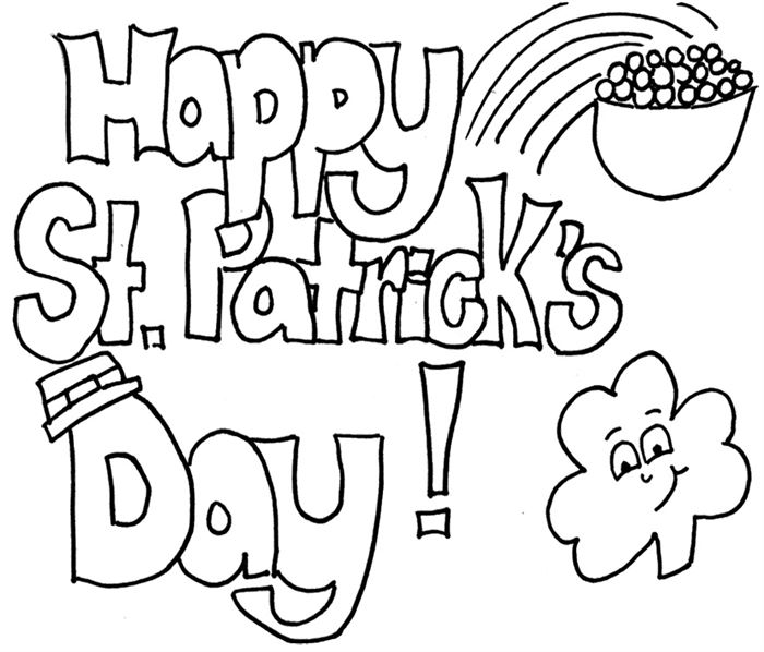 Unique St. Patrick's Day Pictures To Print And Color