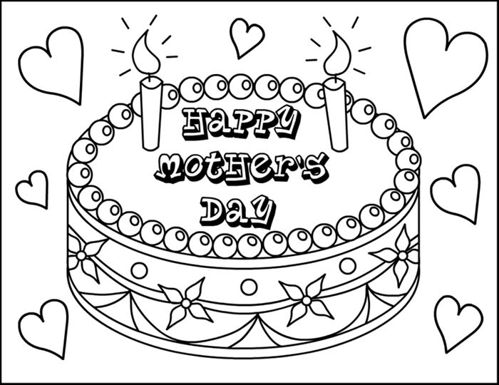 Best Free Mother's Day Pictures To Color For Kids