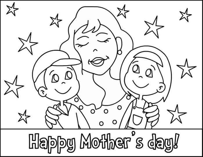 Meaningful Mother's Day Pictures To Color For Kids