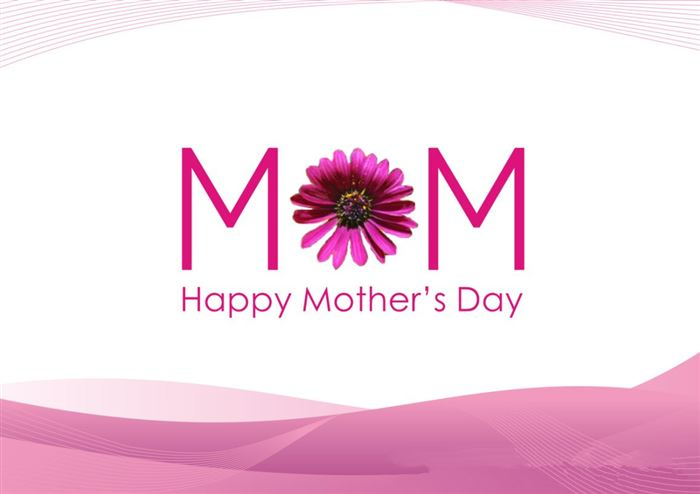 Meaningful Happy Mother's Day Banner Clip Art