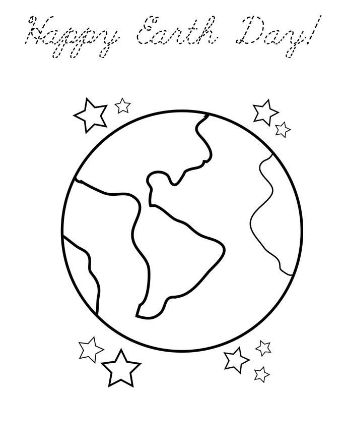 Free Meaning Earth Day Images To Color