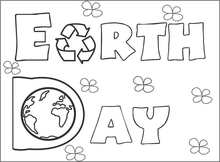 Free Beautiful Earth Day 2017 Pictures To Color
