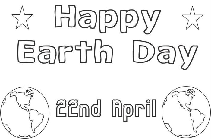 Free Meaningful Earth Day 2017 Pictures To Color