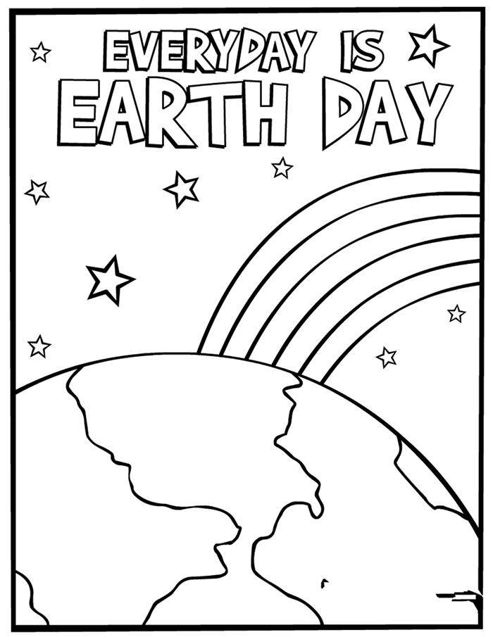 Beautiful Black And White Happy Earth Day Clip Art