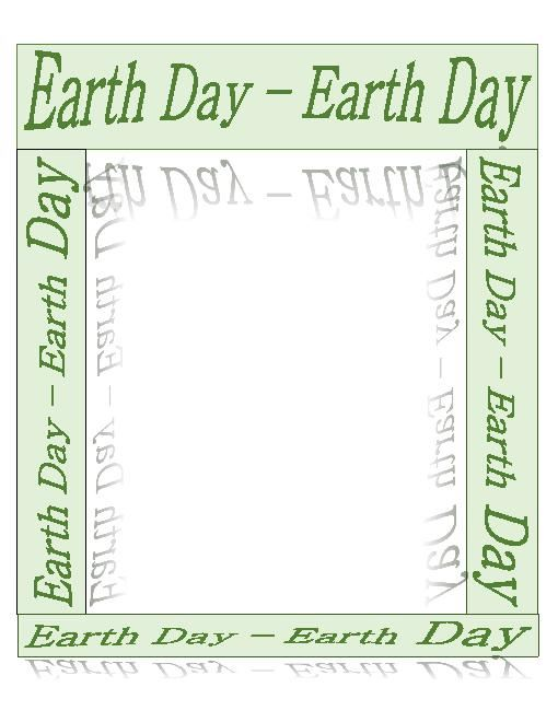 Beautiful Earth Day Clip Art Borders