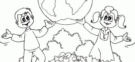 Free Earth Day Coloring Pages Image