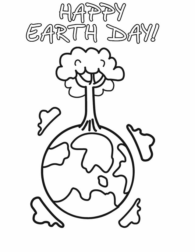 Best Earth Day Coloring Pages Image
