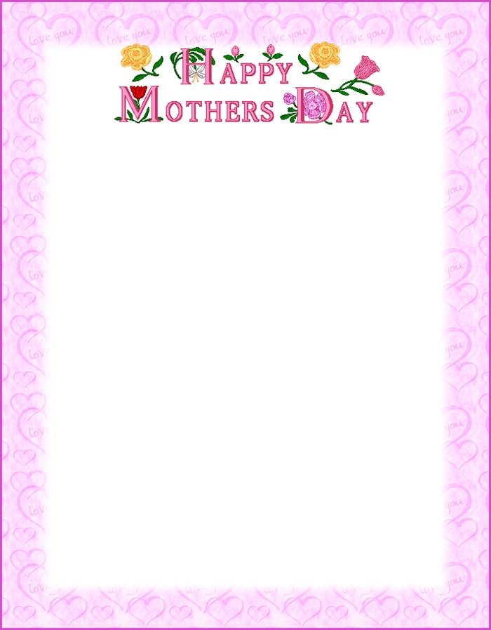 Beautiful Happy Mother's Day Clip Art Borders