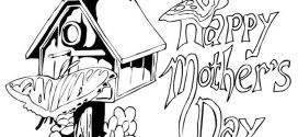 Free Happy Mothers Day Clip Art Coloring Pages