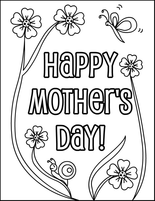 Beautiful Happy Mother's Day Pictures To Print And Color