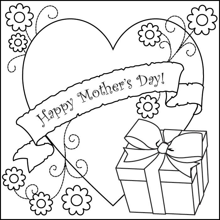 Best Happy Mother's Day Pictures To Print And Color