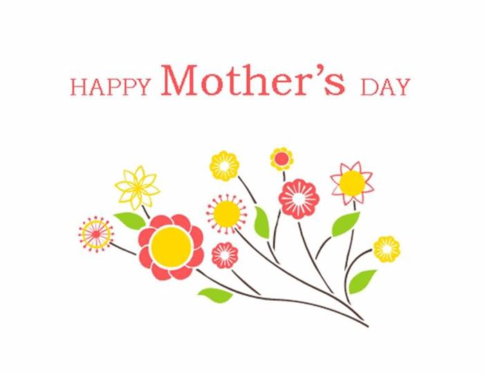 Beautiful Happy Mother's Day Flowers Clip Art
