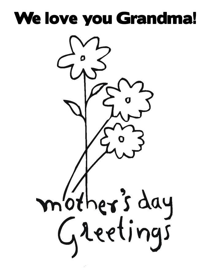 Meaningful Mother's Day Pictures To Color For Grandma