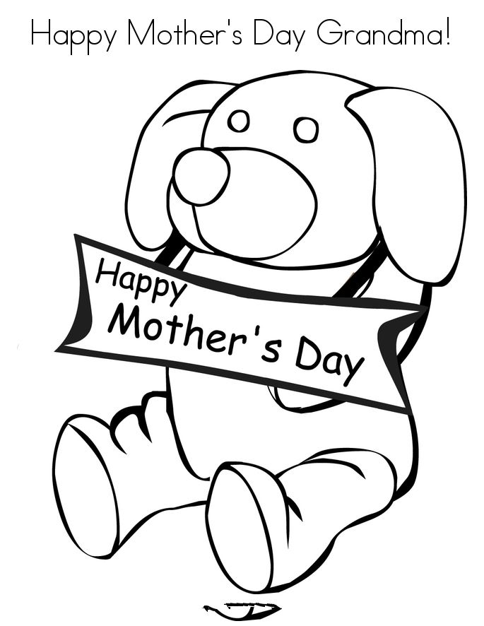 Beautiful Mother's Day Pictures To Color For Grandma