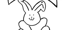 Beautiful Easter Bunny Clip Art Color