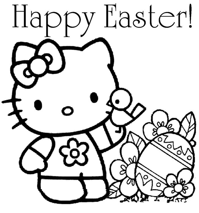 Free Beautiful Easter Coloring Pictures For Kindergarten