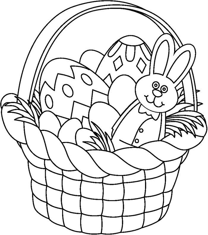 Best Free Easter Clip Art Black And White