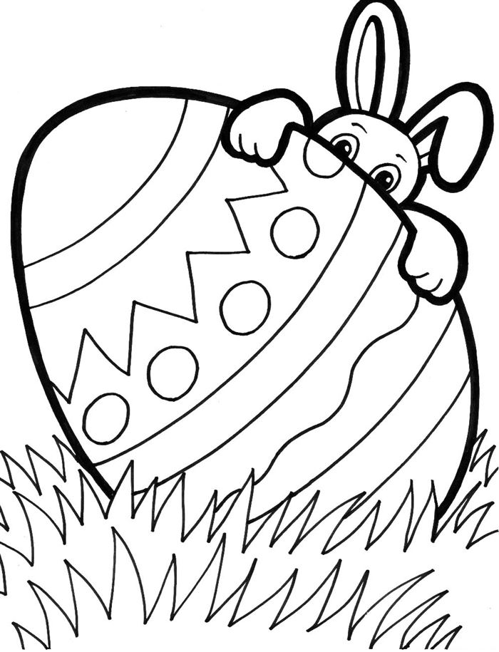 Beautiful Free Easter Clip Art Black And White
