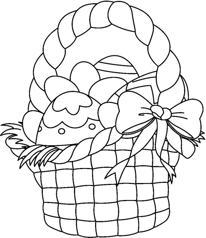 Easter Basket Clip Art Black And WhiteEmpty Easter Basket Clipart