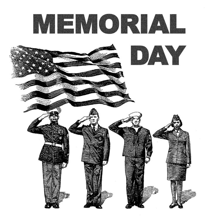 Best Memorial Day Clip Art Black White