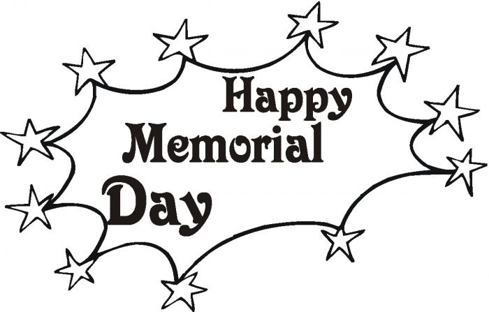 Beautiful Memorial Day Clip Art Black White