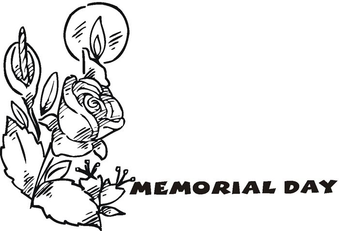 Meaningful Memorial Day Clip Art Black White