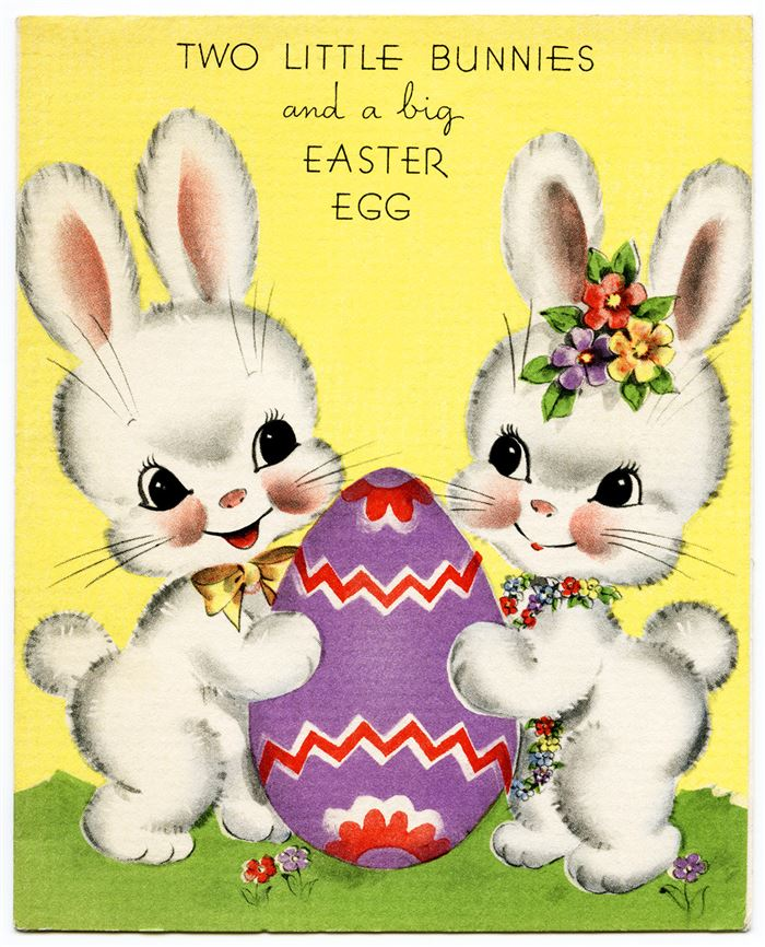 Free Vintage Easter Bunny Clipart Download