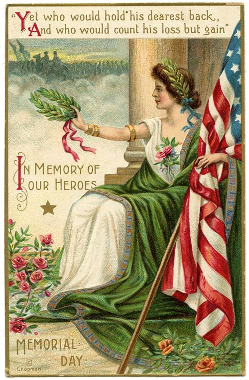 Beautiful Vintage Memorial Day Clip Art Free
