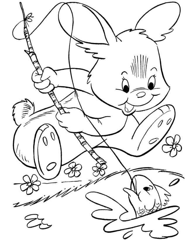 Top Easter Bunny Pictures To Color And Print