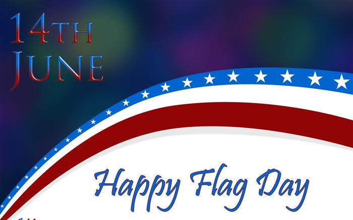 Animated Happy Flag Day Clip Art