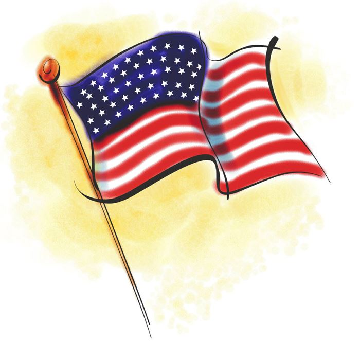 Best Animated 14th June Flag Day Clip Art