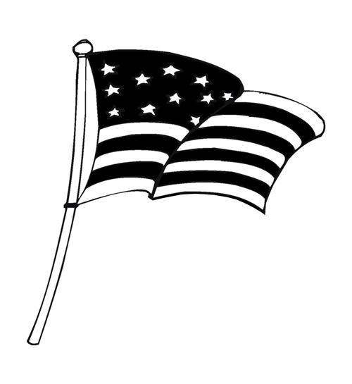 Unique Black And White Happy Flag Day Clip Art