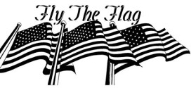 Beautiful Black And White Happy Flag Day Clip Art