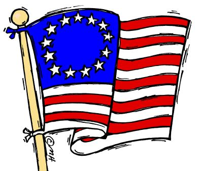 Beautiful Flag Day Children In School Clip Art