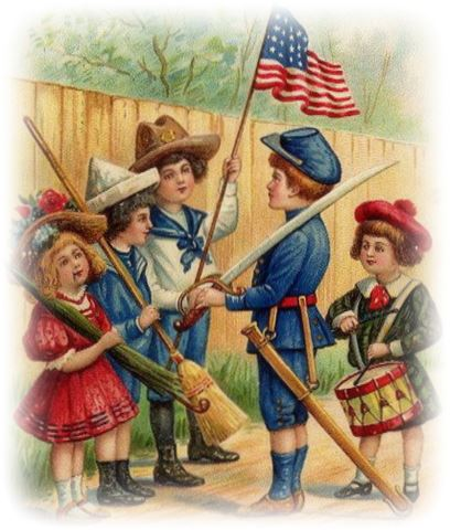 Free Flag Day Children In School Clip Art