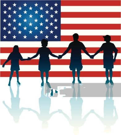 Beautiful Flag Day Clip Art Children Holding Hands
