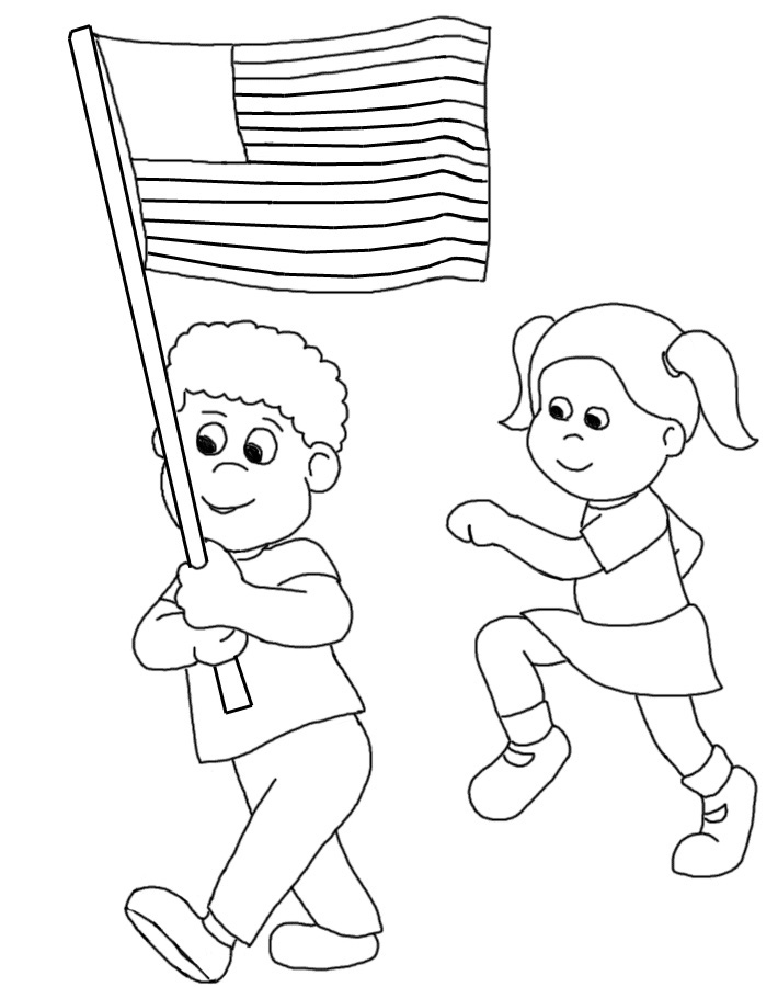 Unique Flag Day Clip Art Children Holding Hands