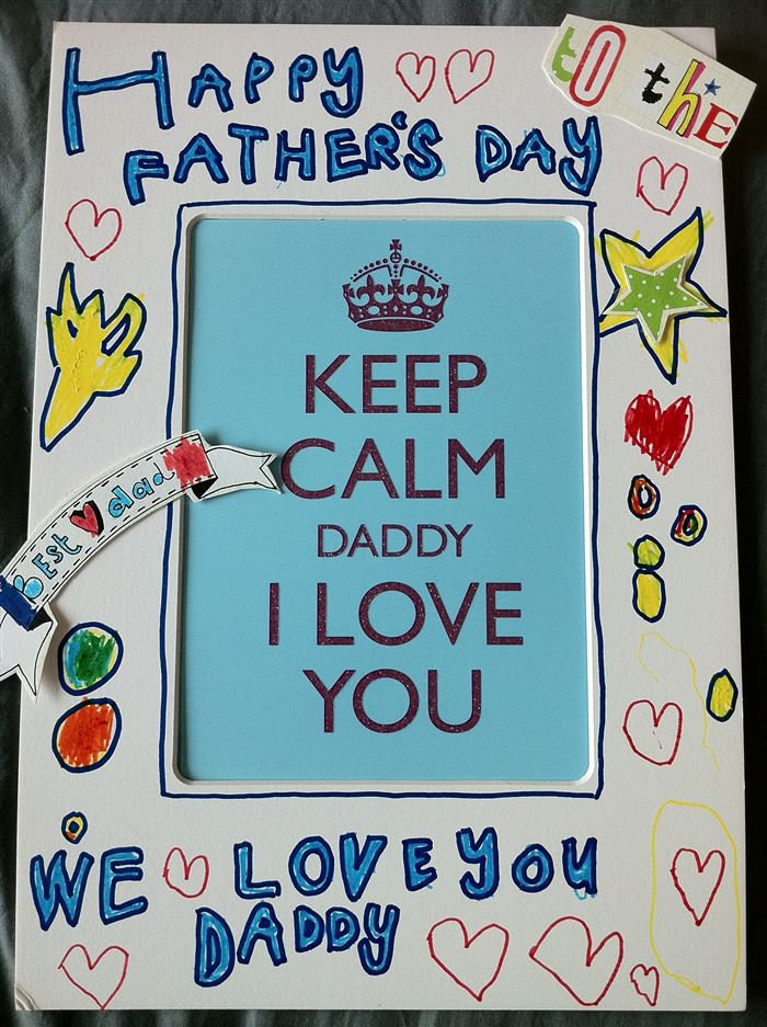 Easy Happy Father's Day Picture Frame Ideas