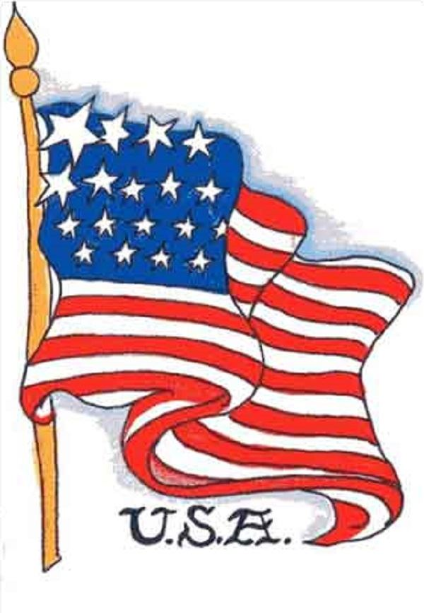 Best Beautiful June 14 Flag Day Clip Art