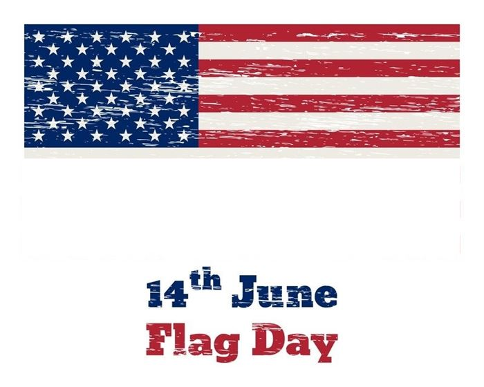 Free Beautiful June 14 Flag Day Clip Art