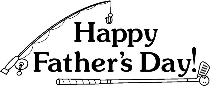 Best Happy Father's Day Clip Art Black And White