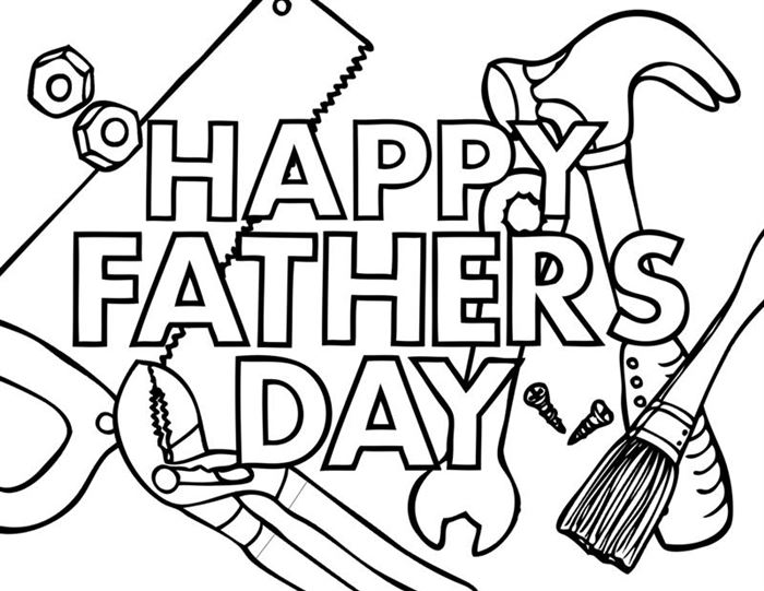 Free Happy Father's Day Pictures To Print And Color
